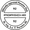 Officially approved Porsche Club 92